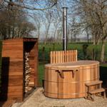Diametro vasca idromassaggio 180cm con stufa a legna