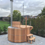 Hot tub diameter 180cm with wood stove and biofilter