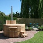 Piscina esterna in legno diametro 210cm