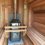 sauna barrel wood stove 2