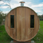 sauna bar with 2 windows