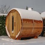 Barrel sauna with a length of 210cm