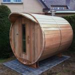 Sauna barril con una longitud de 210cm